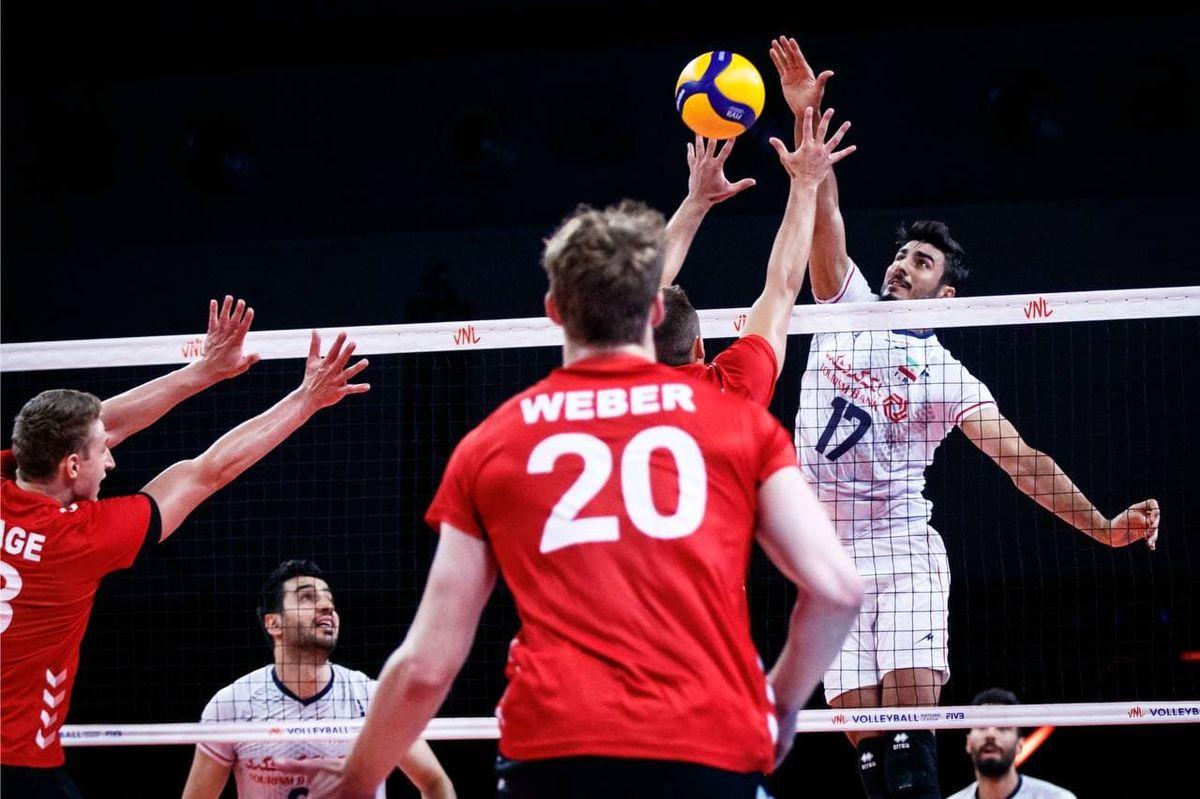 نتیجه بازی والیبال ایران و آلمان/ شکست شاگردان آلکنو مقابل آلمان