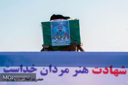 تشییع پیکر شهید بیژن زارع