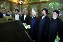 رئیسجمهور و اعضای هیات دولت با آرمانهای امام راحل تجدید بیعت کردند
