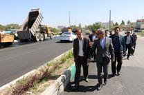 آسفالت ریزی بیش از  ۱۲ هزار تن در سطح شهر اردبیل