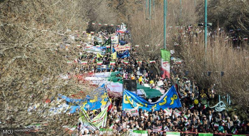 مسیرهای  راهپیمایی ۲۲ بهمن در همدان اعلام شد