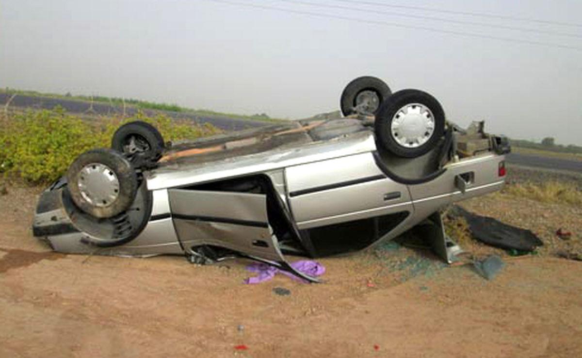 مصدومیت 6 نفر اتباع غیر مجاز در اثر واژگونی یک سواری پژو