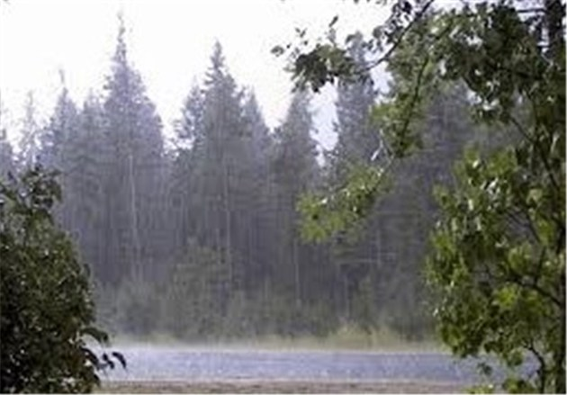 هوای مازندران فردا شاهد رگبار باران، رعدوبرق و کاهش دما است