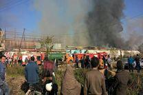 مهار آتش سوزی در فروشگاه هپی لند