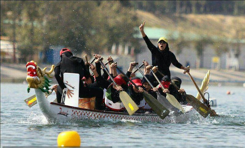 درخشش تیم بانوان لاهیجان در مسابقات بین المللی قایقرانی دراگون بت