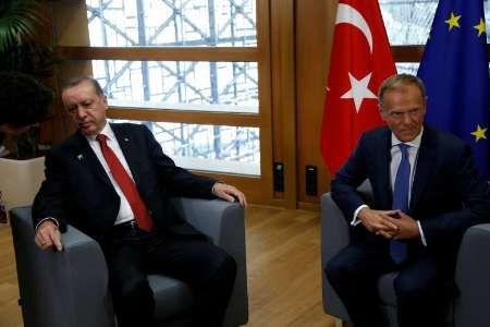 اردوغان با سران اتحادیه اروپا دیدار کرد/حقوق بشر مهم ترین محور گفت وگوها