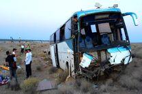 16 مصدوم در تصادف اتوبوس و کامیون در اتوبان نطنز- کاشان