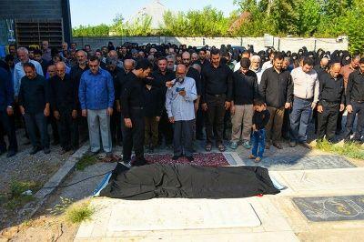 پیکر مادر شهید مدافع حرم تشییع شد