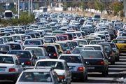 ترافیک سنگین در ورودی های کلانشهر تهران