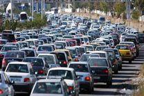ترافیک نیمهسنگین در آزادراههای قزوین_کرج _ تهران
