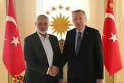 اردوغان با رئیس دفتر سیاسی حماس دیدار کرد