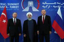 """روحانی بر مبارزه با تروریستها در """"ادلب"""" تاکید کرد/ پوتین: باید اقداماتی برای بازسازی سوریه اتخاذ شود"""