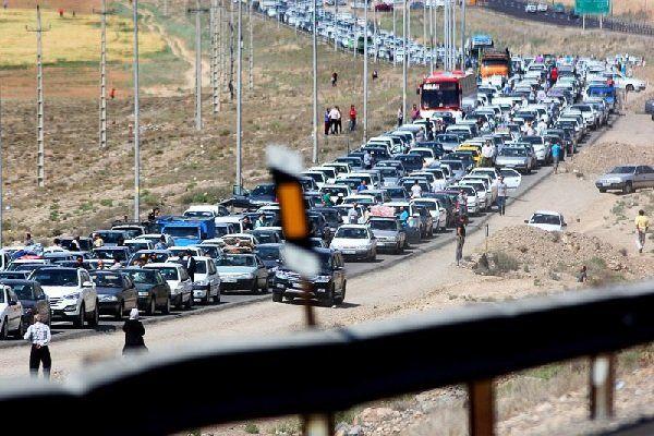 آخرین وضعیت ترافیک جاده ها/ ترافیک سنگین در مسیر بازگشت از مرزهای مهران، چذابه و شلمچه