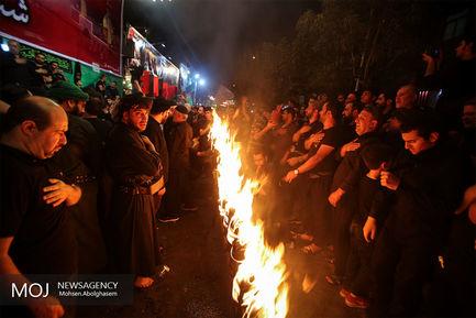مشعل+گردانی+عرب+های+مقیم+تهران+در+شب+عاشورای+حسینی