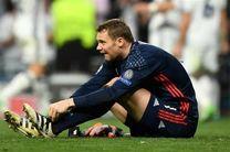 دروازه بان تیم ملی آلمان مصدوم شد