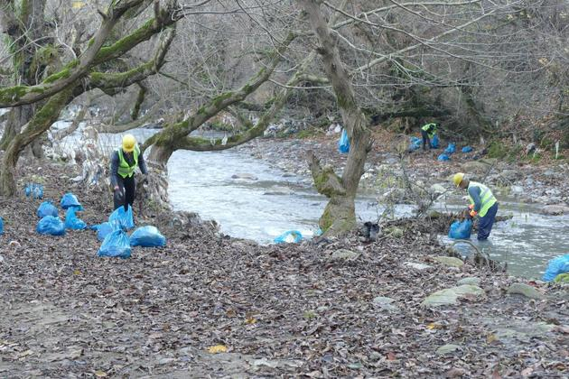 آغاز طرح پاکسازی زباله از رودخانه خالکایی ماسال