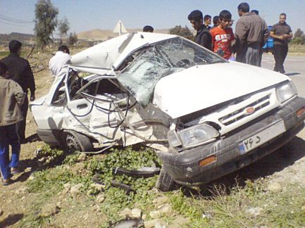 یک کشته و چهار مصدوم در 2 تصادف خودرو در محمودآباد