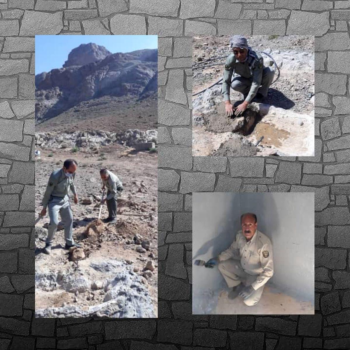 بازسازی آبشخورهای منطقه شکار ممنوع شاه قنداب در شهرضا