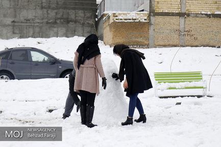 بارش برف در آخرین روزهای زمستان در کرمانشاه