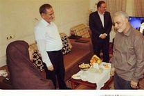 دیدار عیدانه سرلشکر قاسم سلیمانی با والده جهانگیری + عکس