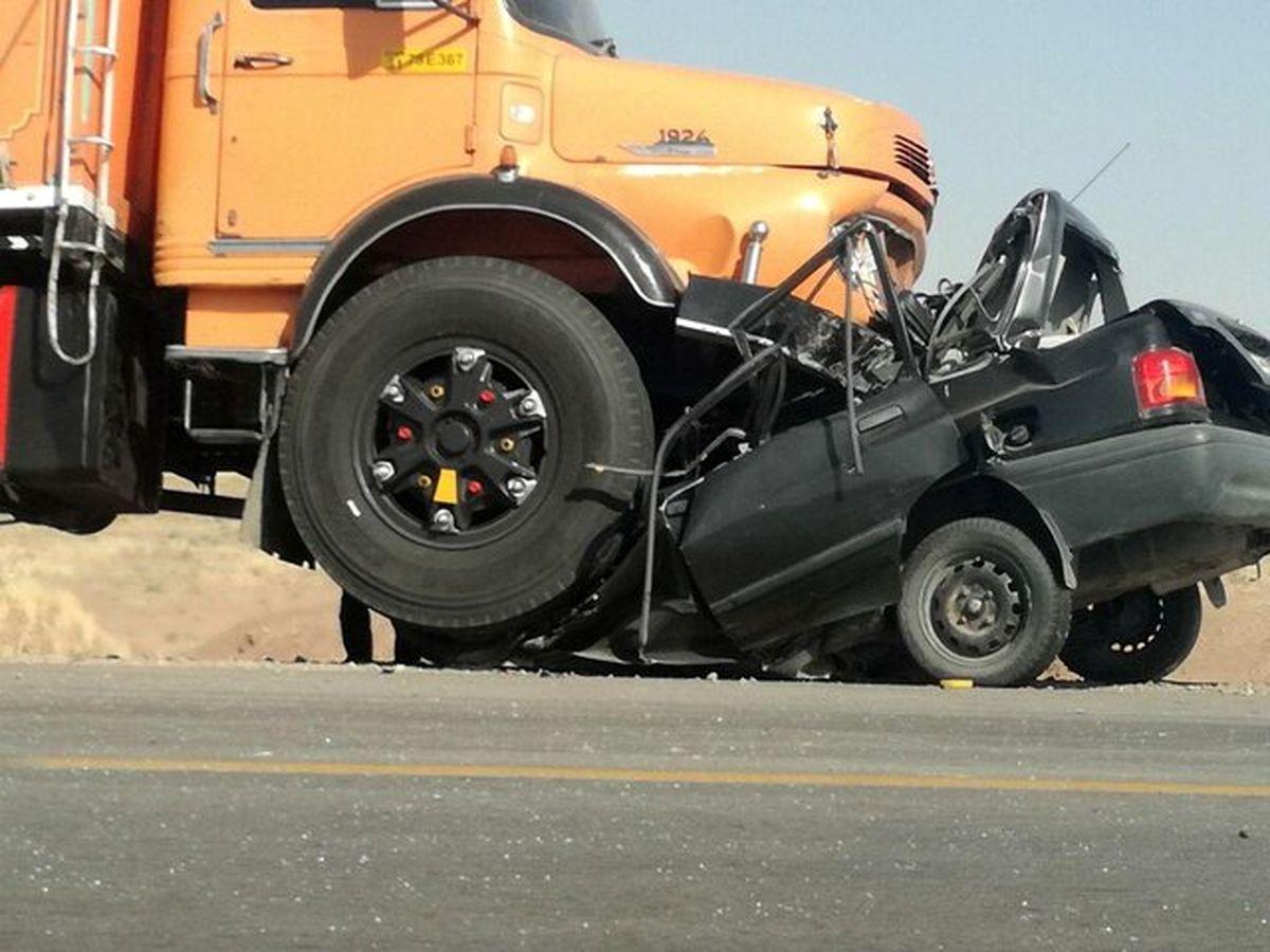 حادثه در محور قوچان، منجر به فوت ۲ تن و مصدومیت یک نفر شد