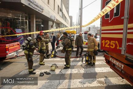 آتش سوزی در ساختمان برق حرارتی