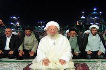 اقامه نماز جماعت مغرب و عشاء به امامت آیتالله مکارم شیرازی در حرم رضوی