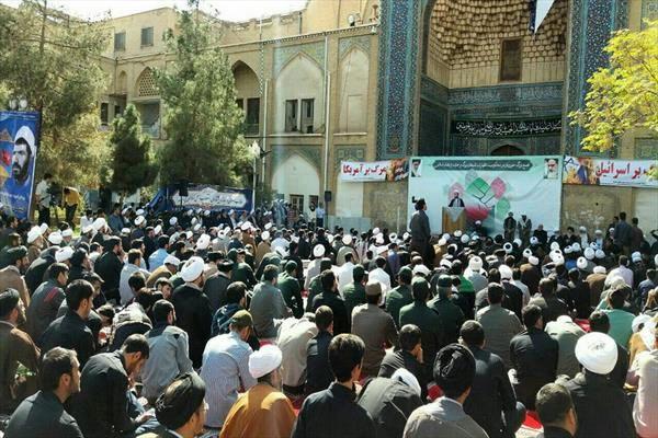 تجمع بزرگ طلاب و فضلای حوزه علمیه علیه شیطان بزرگ برگزار شد