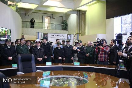 افتتاح سامانه کنترل تصویری مرکز فرماندهی ناجا