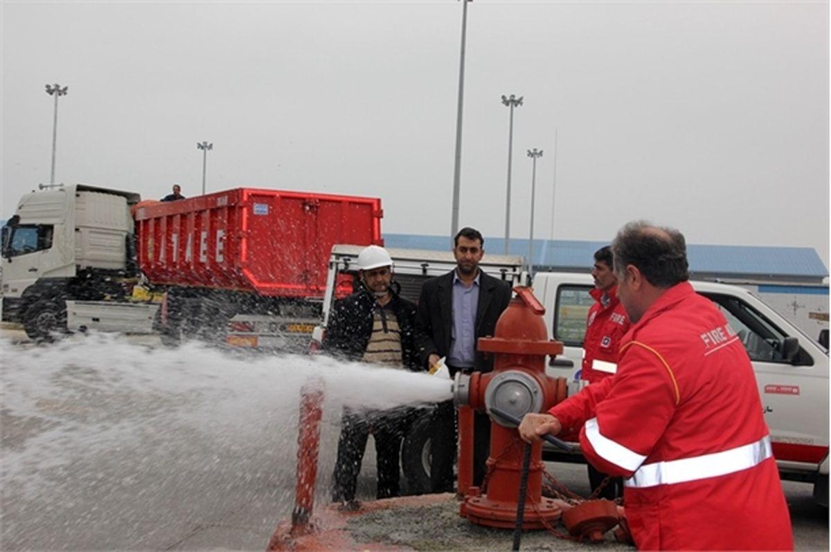 آغاز عملیات جداسازی شبکه های آب رسانی و آتش نشانی محوطه های بندر نوشهر