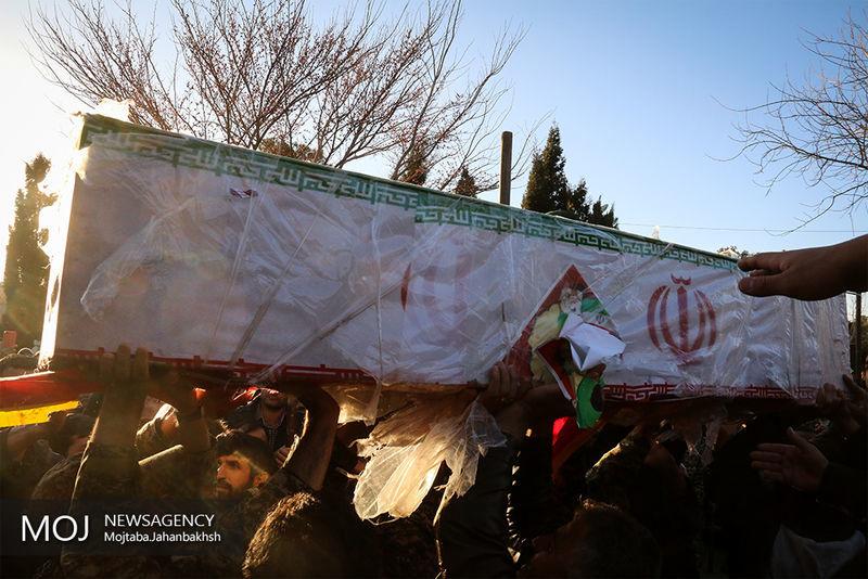 پیکر شهدای حادثه انفجار در صنایع شهید درویشی تشییع شد