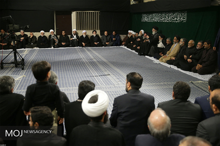آخرین شب عزاداری حسینی (ع) با حضور مقام معظم رهبری