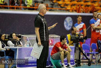 دیدار تیم های والیبال بلژیک و صربستان