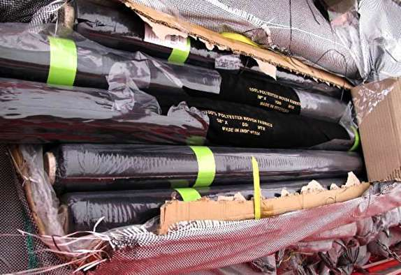 کشف محموله پارچه قاچاق در مرزهای آبی بندر لنگه