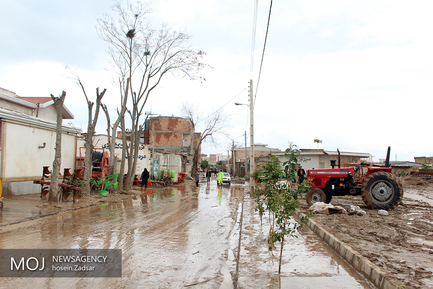 آبگرفتگی معابر شهری در گنبد کاووس