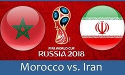 گزارش زنده بازی دیدار ایران و مراکش /گل برای ایران : ایران 1 مراکش 0