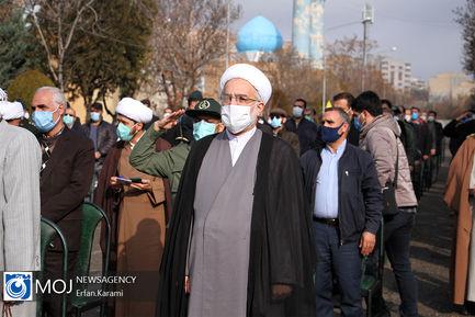 تشییع و تدفین شهدای گمنام در دانشگاه فرهنگیان کردستان