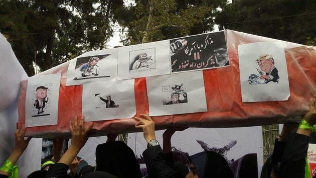تابوت مذاکره با آمریکا بر روی دستان مردم تشییع شد