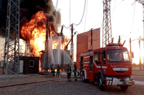 آتش سوزی در نیروگاه برق نیشابور مهار شد