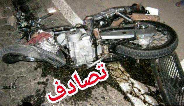 جولان شبانه موتورسیکلت سواران جوان حادثه آفرید