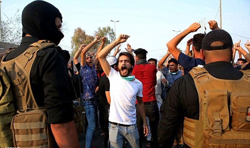 تظاهرات شهر بصره به خشونت کشیده شد