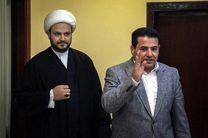 شیخ اکرم الکعبی و وزیر کشور عراق درباره تحولات امنیت گفت و گو کردند