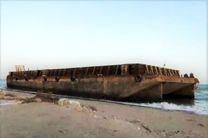 بارج 5 هزار تنی در بندر لنگه به گل نشست/مالک عراقی پاسخگوی تلفن نیست