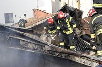 مهار آتش سوزی خانه ویلایی در نقره دشت رشت