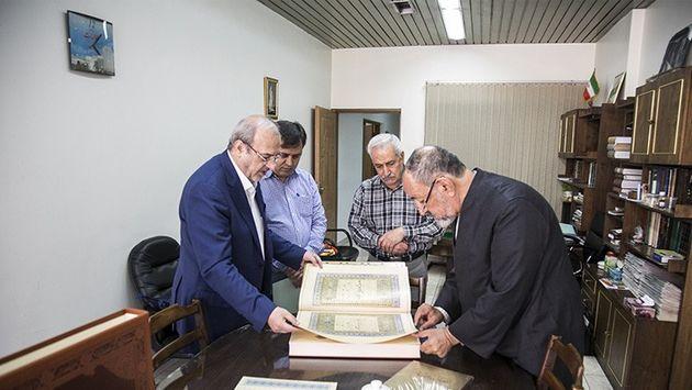 اهدای کتاب نفیس قرآن طباخ به مراکز فرهنگی، هنری و مطبوعاتی توسط بانکپاسارگاد