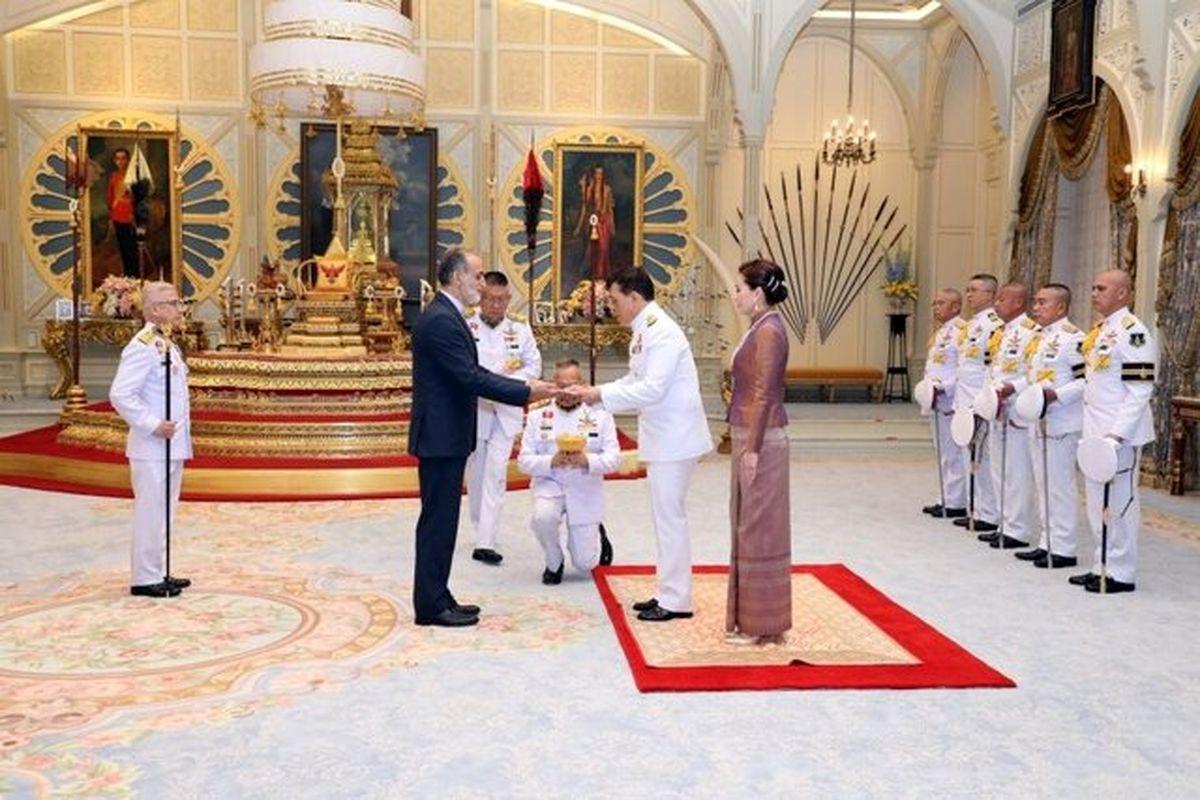 استوارنامه سفیر جدید ایران به پادشاه تایلند تقدیم شد