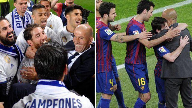 رئال مادرید زیدان بهتر است یا بارسلونای گواردیولا؟