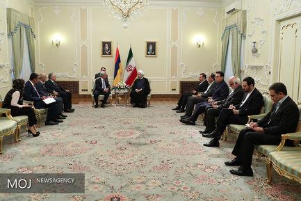 دیدار رییس جمهور با رییس جمهور ارمنستان