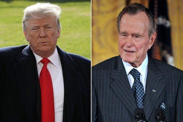 پیام توئیتری ترامپ در واکنش به مرگ جرج بوش پدر