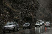 جاده های مازندران لغزنده است/ کاهش دید در ارتفاعات محور کندوان